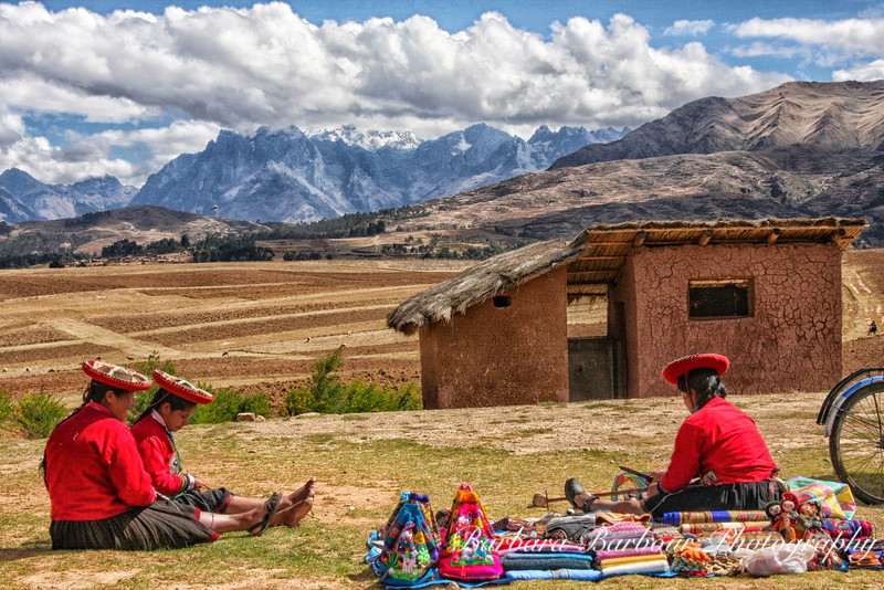 Women in Andes Mountains, Peru