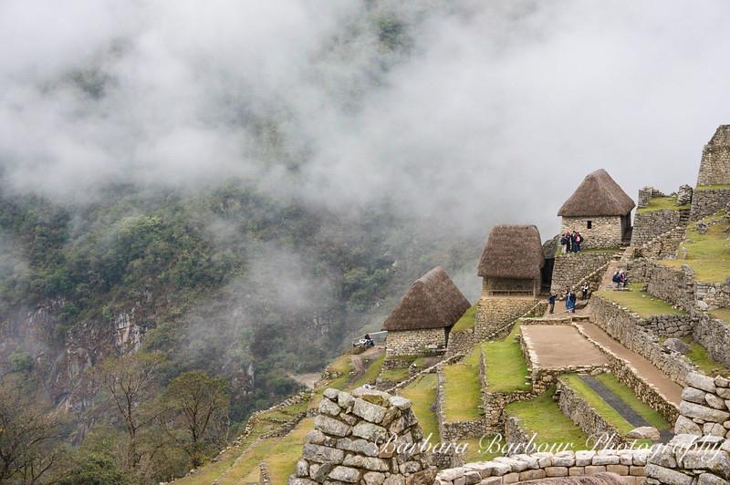Care takers huts in Machu Picchu