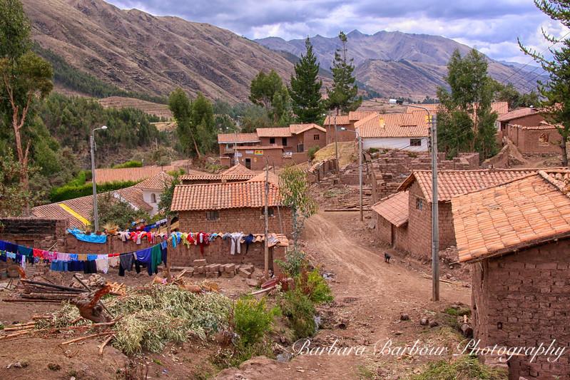 village above Cusco