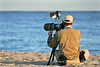 Photographer at beach