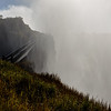 Heavy mist at Victoria Falls