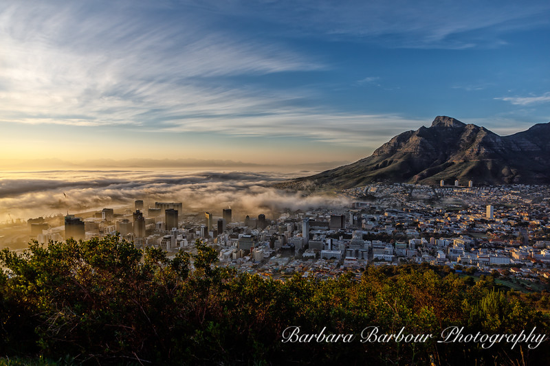 Over looking Cape Town