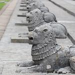 Lion statues, Columbo