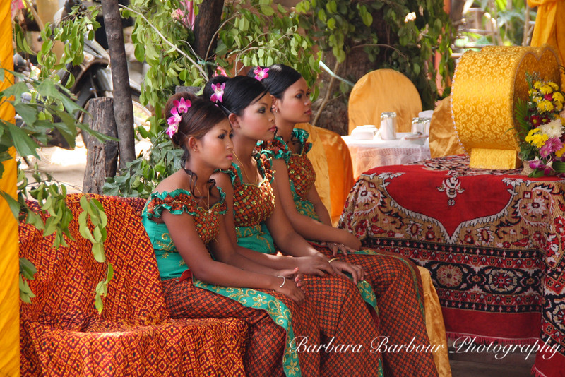 Young Girls at wedding party in Siem Reap, Cambodia