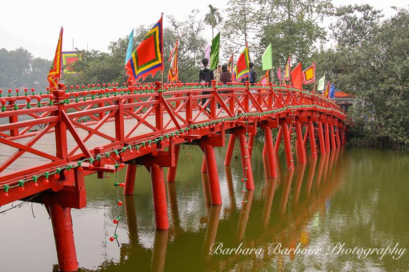 Red Bridge over Hoan Kiem Lake, Hanoi