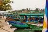 Boats at river in Hoi An, Vietnam