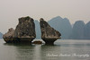 Famous Kissing Rocks in Halong Bay, Vietnam