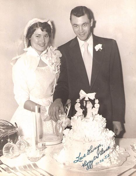 1952 - Peggy and Gene's wedding - Nov 1952 copy