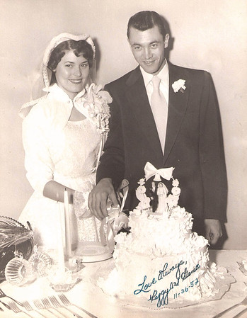 1952 - Peggy and Gene's wedding - Nov 1952 copy