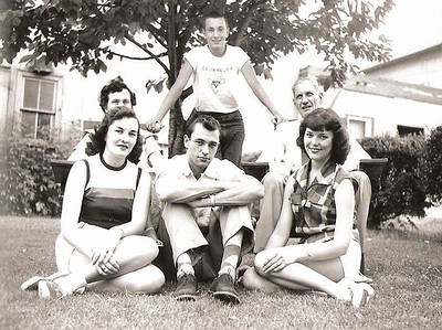Eve, Gene, Peggy, Claire, Gus, Gene-1953
