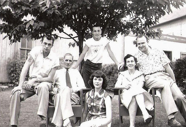 1953 - Gene,Peggy visit with Rogers family-1953 copy