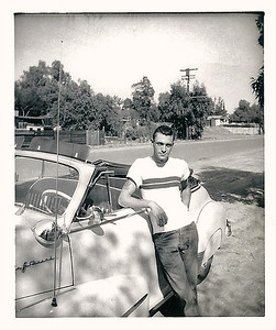 1947 - gene leaning against car