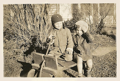 1936 - billy and nancy in cart