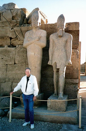 1997 - Gene in front of antiquities in Egypt-1997 copy