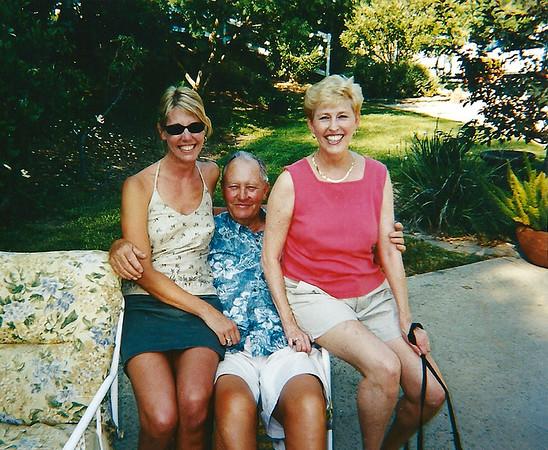 2001 - Dad, Paula and Cheryl at Paulas sister house in Woodland Hills, CA copy