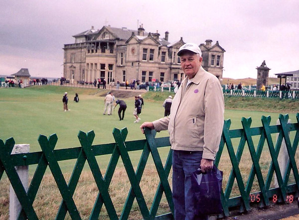 2005 - Gene at St Andrew's Golf Course, Scotland - 2005 copy