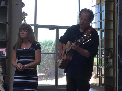 Jimmie Ray & Cyndi singing at Gene's Celebration of Life