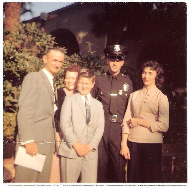Gene graduates the Police Academy-Nov 1958