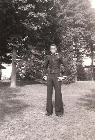 Gene in Navy uniform - June 1949