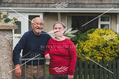 Seamus and Maureen Farry at their garden at Hillview, Enniskillen.  Picture: Ronan McGrade