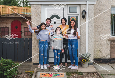 Krystle and Christopher Corrigan and their three daughters at Hillview, Enniskillen.  Picture: Ronan McGrade