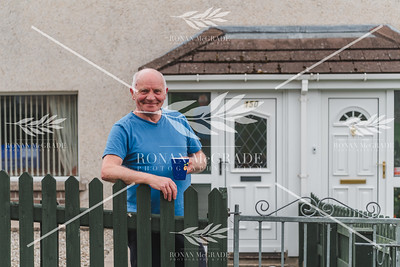 Martin Burns of Hillview, Enniskillen enjoying a cuppa in his garden.  Picture: Ronan McGrade