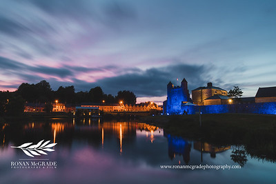 Enniskillen Castle was lit up blue for International Nurses Day on Tuesday 12th May 2020.  Picture © Ronan McGrade