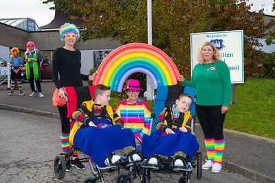 Caleb and Callistus Hughes enjoying the NHS Rainbow Day with, from left, Shirley Rowland, Linda Fitzpatrick and Michelle Saunderson.  Picture: Ronan McGrade