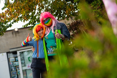 Rhys and Cathy Thornton at the Rainbow morning for the NHS.  Picture: Ronan McGrade