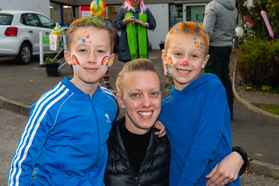 Lynn Gregg with her sons Charlie and Finlay.  Picture: Ronan McGrade