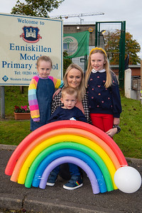 Leanne Burns with her children, from left, Beth, Isaac and Lily May.  Picture: Ronan McGrade