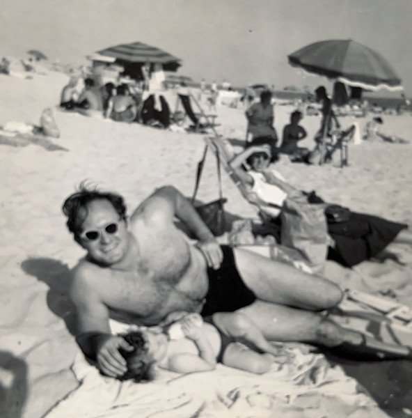 Dad and Paul? on beach-1.jpg
