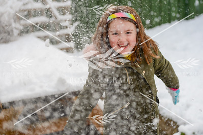 Mia McGrade from Enniskillen enjoys playing in the snow.  Picture: Ronan McGrade