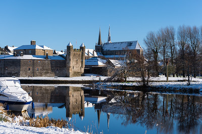 Residents in the island town of Enniskillen woke up to a blanket of snow on Wednesday morning.  Picture: Ronan McGrade