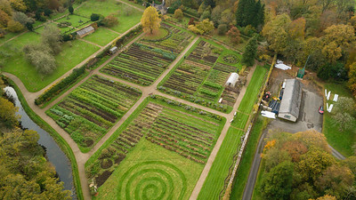 The Walled Garden at Florence Court as seen from above.  Picture: Ronan McGrade