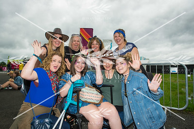 The Country Cousins, from England and Scotland!  Back from left, Liz West, Leslie McLaughlin, Trisha Denis and Laura Kane.  Front, Emma Blackman, Bernice Denis, Leslie Barker and Celine Denis.  Picture: Ronan McGrade