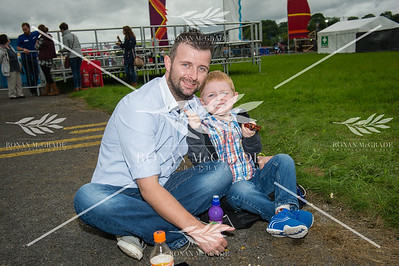 Dwayne Anderson and Harry O'Reilly from Carryduff enjoyed Harvest Country Music Festival at Enniskillen.  Picture: Ronan McGrade