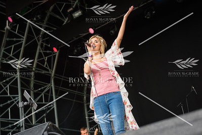 Donna Taggart sings to a large crowd of admirers at Harvest Country Music Festival.  Picture: Ronan McGrade