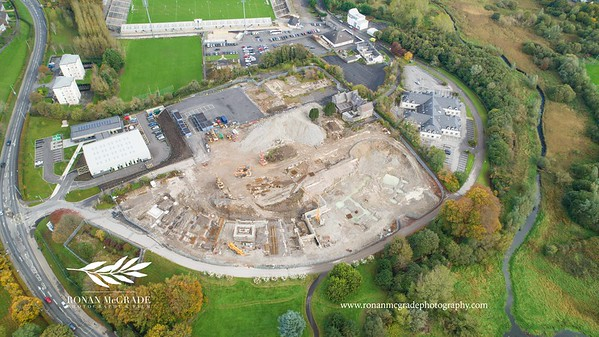 Excavation work is continuing at the site of the new South West College at Cornagrade.  Picture: Ronan McGrade