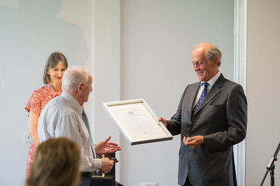***** from Fermanagh Talking Newspaper for the Blind receiving the Queen's Award for Voluntary Services from Lord Brookeborough .  Picture: Ronan McGrade