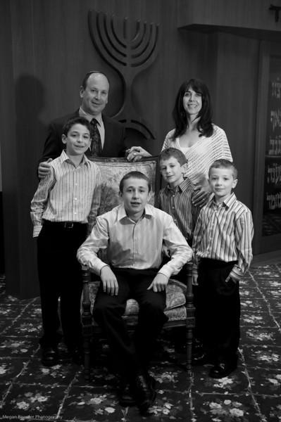 Bar Mitzvah Portraits Adam Taitz Parents Cindy and Ari