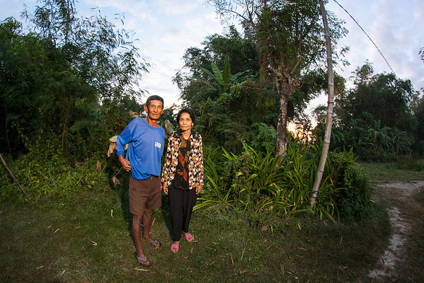 Linda & Husband on their front yard, Tarlac