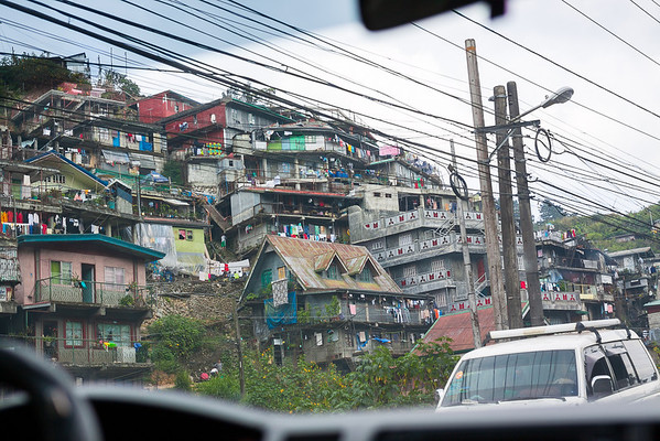 Shanty Town dwellings between La Trinidad and Baguio City