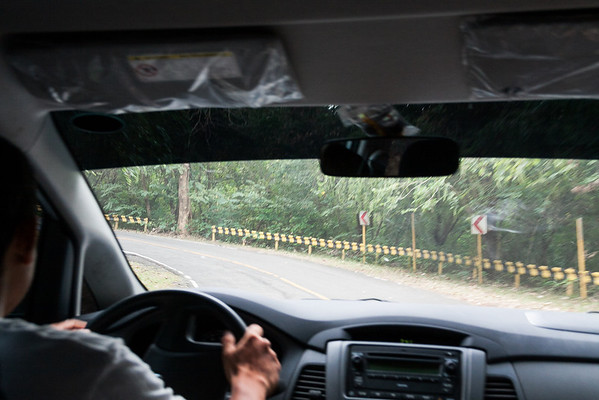 Driving up Mount Samat