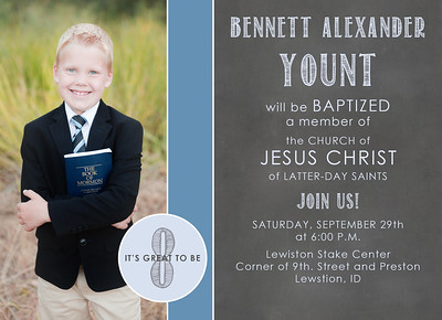 Baptism Invitation chalkboard neutral