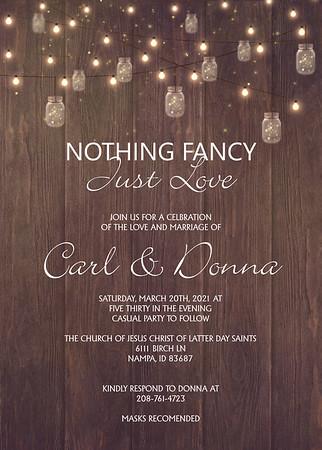 Donna Carl wedding announcement