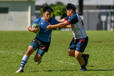Garden International School in action at the SEASAC Rugby Tournament, Alice Smith School, Kuala Lumpur 3rd February 2018. Photo by Tom Kirkwood/SportDXB