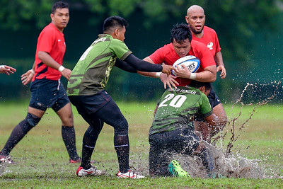 KL Saracens in action against Greenhorns during a Liga KRS match 14th July 2019. Photo by Tom Kirkwood/SportDXB