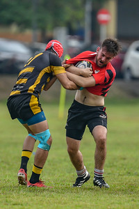 KL Saracens in action against Cobra Stingers during a Liga KRS match 23rd June 2019. Photo by Tom Kirkwood/SportDXB