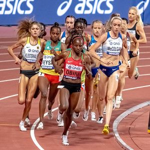 The Women's 5000 metres final during day nine of 17th IAAF World Athletics Championships Doha 2019 at Khalifa International Stadium on October 05, 2019 in Doha, Qatar. Photo by Tom Kirkwood/SportDXB